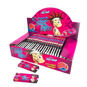 CHUPETIN MASTICABLE TUTTI FRUTI SUPER TATOO X 50 U.
