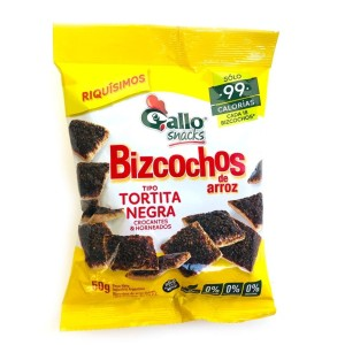 BIZCOCHOS GALLO ARROZ DULCES X 50 GR.