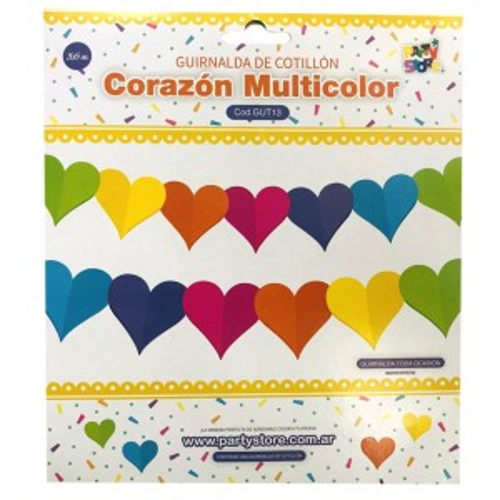 GUIRNALDA CORAZON MULTICOLOR