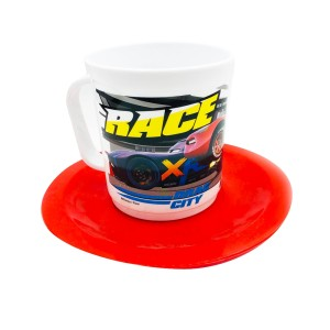 SET TAZA CON PLATO CARS