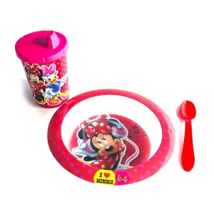 SET BOWL CON VASO Y CUCHARA MINNIE