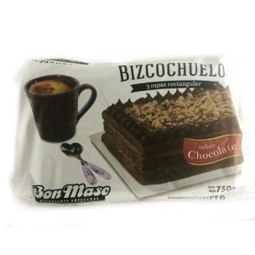 BIZCOCHUELO RECTANGULAR CHOCOLATE