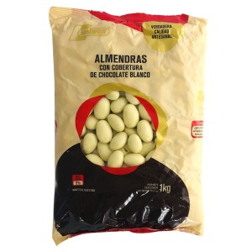 ALMENDRA CON CHOCOLATE BLANCO x 1 KG.